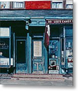 Palace Barber Shop And Lees Candy Store Metal Print