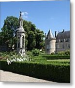 Palace Bussy Rabutin And Garden Metal Print