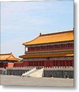 Palace Forbidden City In Beijing Metal Print