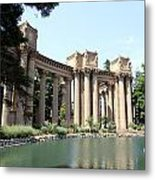 Palace Of Fine Arts Colonnades  Metal Print