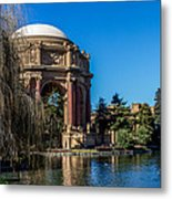 Palace Of Fine Arts In Color Metal Print