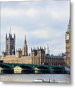 Palace Of Westminster Metal Print by Trevor Wintle