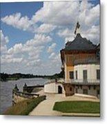 Palace Pillnitz And River Elbe Metal Print