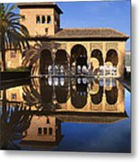 Palacio Del Partal La Alhambra Metal Print