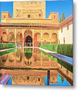Palacio Nazaries In Alhambra Metal Print