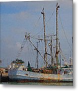 Palacios Texas Rhonda Kathleen In Port Metal Print