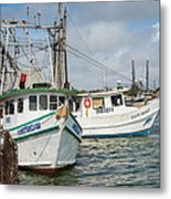 Palacios Texas Two Boats In View Metal Print