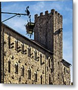Palazzo Pretorio And The Tower Of Little Pig Metal Print