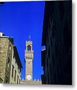 Palazzo Vecchio Clock Tower Metal Print