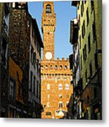 Palazzo Vecchio In Florence Italy Metal Print