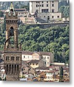 Palazzo Vecchio Tower And Forte Belvedere Metal Print