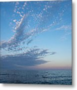 Pale Blues And Feathery Clouds In The Fading Light Metal Print