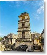 Palenque Palace Tower Metal Print