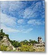 Palenque Temples Metal Print