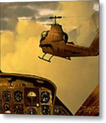 Palette Of The Aviator Metal Print