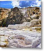 Palette Spring Terrace Panorama - Yellowstone National Park Wyoming Metal Print