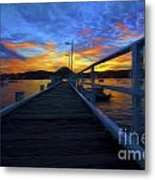 Palm Beach Wharf At Sunset Metal Print