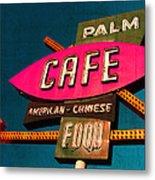 Palm Cafe Metal Print by Gail Lawnicki