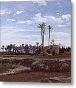 Palm Forest In Elche Metal Print