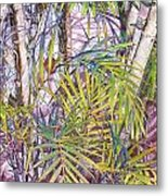 Palm Grove Metal Print