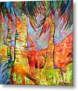 Palm Jungle Metal Print