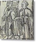 Palm Reading, 16th Century Artwork Metal Print