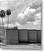 Palm Springs City Hall Bw Palm Springs Metal Print