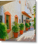 Palm Springs Courtyard Metal Print