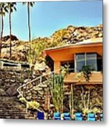 Palm Springs Pool Metal Print