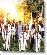 Palm Sunday - Mexico Metal Print