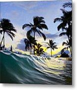 Palm Wave Metal Print