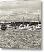 Palmetto Bay Marina Panorama Metal Print