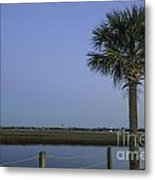 Palmetto View Of Lighthouse Metal Print