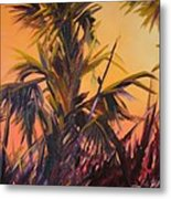 Palmettos At Dusk Metal Print