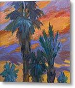 Palms And Sunset Metal Print