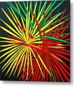 Palms Bursting Metal Print by Roseann Gilmore