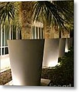 Palms In Pots Metal Print
