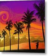 Palms Over St. Croix Metal Print