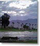 Palms Springs Flood Metal Print