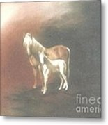 Palomino And Colt Metal Print