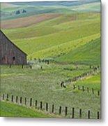 Palouse Barn And Fence Metal Print