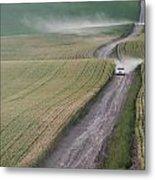 Palouse Dust Trail Metal Print by Latah Trail Foundation