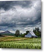 Palouse Farm And Steptoe Butte Metal Print