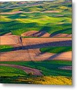 Palouse Ocean Of Wheat Metal Print
