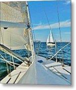 Pamlico Sound Sailing 52 4/14 Metal Print
