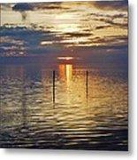 Pamlico Sound Sunset 3 12/5 Metal Print