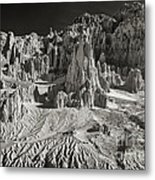 Panaca Sandstone Formations In Black And White Nevada Landscape Metal Print
