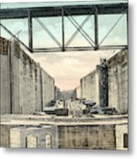 Panama Canal Locks Metal Print