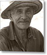 Panamanian Country Man Metal Print by Heiko Koehrer-Wagner