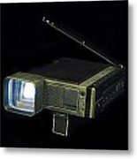 Panasonic Portable Tv Metal Print